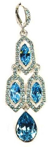 Givenchy Blue Crystal & Diamante Ear Pendant