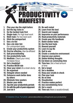 The Productivity Manifesto goals business life tips self improvement business tips self help productive productivity