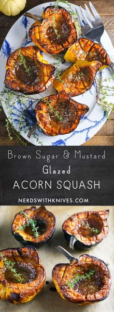 Brown Sugar and Mustard Glazed Acorn Squash