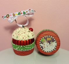 Christmas Cupcake Ornament  Joy to the by PrettyWittyCupcakes
