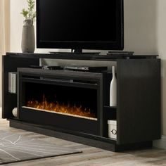 You'll love the David Media Console Electric Fireplace at AllModern - With Great Deals on modern Renovation  products and Free Shipping on most stuff, even the big stuff.