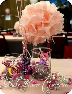 Art baby shower centerpieces the-rookie-wife