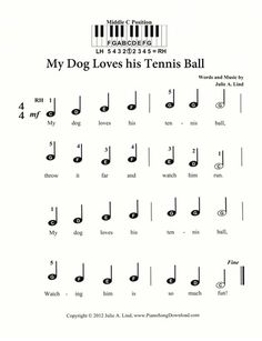 Rain Rain Go Away, free sheet music with keyboard letters