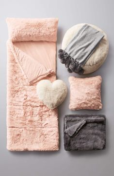 Sumptuous faux fur makes this all-in-one sleeping bag a luxurious option for nights away.