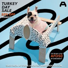 TURKEY DAY SALE: 50% off Wanmock kits during Thanksgiving weekend! (11/26-11/29) Use promo code: AFD50 at checkout. Shop now at store.architecturefordogs.com