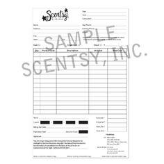 Scentsy Customer Order Forms (US-EN)