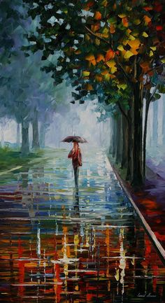 "Morning Full of Life — PALETTE KNIFE Landscape Oil Painting On Canvas By Leonid Afremov - Size: 20"" x 36"" on Etsy, $239.00"