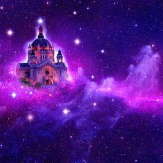 An ethereal Violet Flame retreat. Universal Prayer, Archangel Zadkiel, The Violet, Ascended Masters, New Earth, Saint Germain, Pink Color, Purple, City Lights