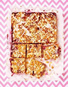 The traditional Bakewell Tart is given a Primrose Bakery makeover with this sliced variety. Made with fresh raspberries and frangipane and covered in a sticky glaze, the cake, from Primrose Bakery Everyday, is an absolute treat.