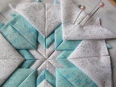 Estrela através de dobras de tecido, o efeito é simplesmente fantástico.