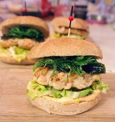 Lizasmatverden-Livet med tre store og en liten: Deilige sjømatburgere med wakame