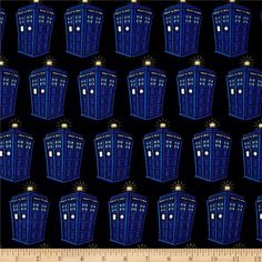 BBC Doctor Who Jersey Knit Tardis Blue from @fabricdotcom  Designed by BBC and…