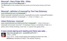 GOOGLE - PAGE ONE - MOONCALF, It's a fun screenshot!