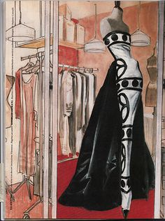 Valentino frock illustrated by Stefano Canulli for Vanity Magazine 1989.  Inspiring!