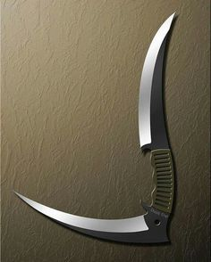 Death Trap by on DeviantArt Ninja Weapons, Weapons Guns, Swords And Daggers, Knives And Swords, Armas Ninja, Cool Knives, Pretty Knives, Weapon Concept Art, Tactical Knives