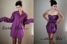 DIY Men's Dress Shirt Cocktail Dress