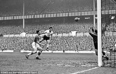 Bobby ith scores against Everton in a 10-4 win in 1958. Bill Nicholson's first match in charge