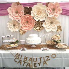 8 pc gigantes flores de papel, Telón de fondo, buffet de dulces, decoración. ¡ Personaliza tus colores!