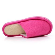 Hot Selling Five Colors Indoor Slippers Women Men Lovers Solid color Coral Velvet Cotton Indoor Warm Slippers Shoes
