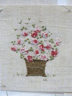 .basket of flowers