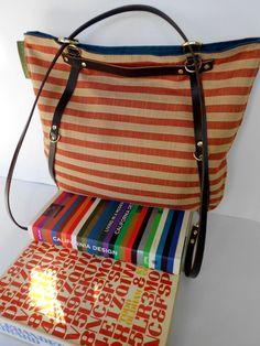 Vintage Americana Stripe Bag with Adjustable by TheLewisKingsleyCo, $75.00