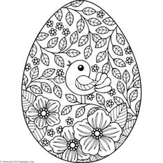 Easter Coloring Pages Egg - Looking for an Easter egg coloring page? We have collected a lot of nice pictures for you that have to do with the Easter cele. design Easter Coloring Pages Egg Easter Egg Coloring Pages, Flower Coloring Pages, Easter Coloring Pages Printable, Easter Egg Printables, Spring Coloring Pages, Mandala Coloring, Easter Art, Easter Crafts, Easter Ideas