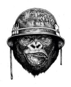 Картинки по запросу gorilla tattoo