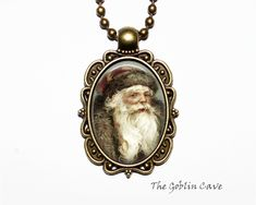 Santa Claus Necklace, Christmas Jewelry, Bronze Pendant, Stocking Stuffer Gift Christmas Necklace, Christmas Jewelry, Bronze Pendant, Pocket Watch, Santa, Pendant Necklace, Unique Jewelry, Handmade Gifts, Accessories