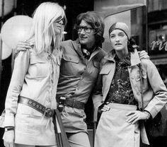 Paris, 1969 -  Yves Saint Laurent, Betty Catroux, Loulou de la Falaise. Credit: John Minihan