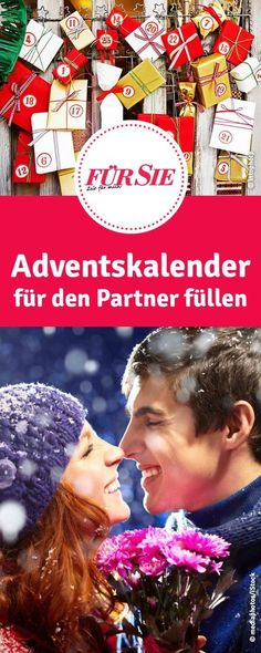 Adventskalender für den Partner füllen zu Weihnachten