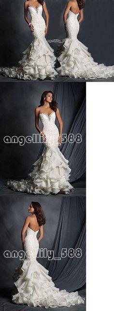Wedding Dresses: New White Ivory Mermaid Wedding Dress Custom Size:6 8 10 12 14 16 18 20+ -> BUY IT NOW ONLY: $140 on eBay!
