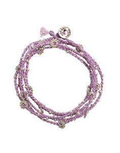 Wrap Bracelet - Purple + Silver {from the little market}