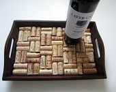 wine cork lined tray