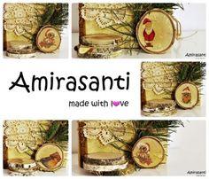 Bombki z plastrów drewna Amirasanti. Zapraszam do odwiedzenia mojej strony www.amirasanti.pl i fb.