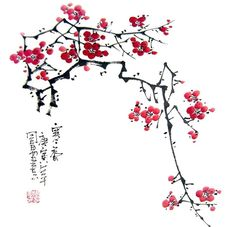 Buy Chinese plum blossom paintings & scrolls from China. Save compared to your local store by good plum blossom painting artists. Chinese Cherry Blossom, Cherry Blossom Images, Cherry Blossom Painting, Japanese Painting, Chinese Painting, Chinese Art, Japanese Art, Sumi E Painting, Blossom Tattoo