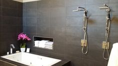 Tempesta Neve Polished Marble Floor Tile 8 X 20 In