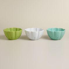 Ceramic Flower Colanders, Set of 3 | World Market