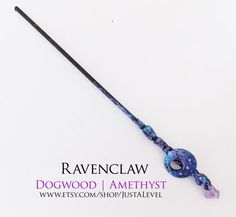 Dark Galaxy Harry Potter Inspired Wand Ravenclaw by JustALevel