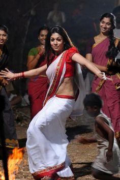 Nayanthara hot saree stills