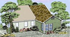 Room additions pictures hip roof room addition built for House plans with future additions