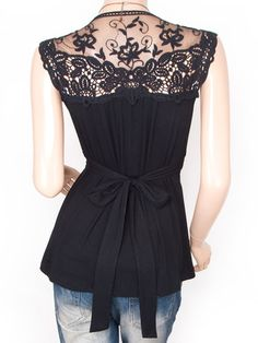 New Womens Cross Bust Lace Embroidered Sleeveless Top size 8/10, 12, 14 & 16   eBay