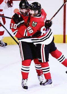 Blackhawks Hug