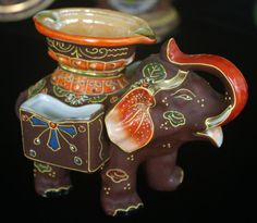 geisha girl porcelain ashtray