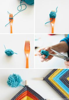 DIY Yarn Pom Pom | thinkmakeshareblog.com