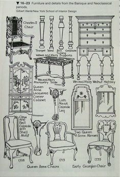 I like this image because it displays what Baroque furniture would like during the actual period, as well as Neo-Classical, which we are abput to learn about. Antique Furniture For Sale, Baroque Furniture, Classic Furniture, Furniture Styles, Vintage Furniture, Furniture Design, Outdoor Furniture, Cheap Furniture, Wooden Furniture