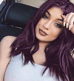 Kylie Jenner Purple Hair #KyleJennerHair #KyleJennerHairstyle