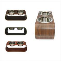 Modern raised dog bowls