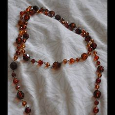 Brown pearl necklace Brown pearl necklace, can be tripled around neck H&M Jewelry Necklaces