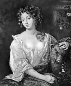 Nell Gwynne - Charles' favorite mistress and one of the first actresses in English theatre. One of Aphra's patrons.