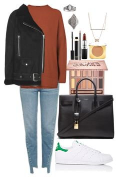 """Untitled #804"" by imadeintheuk ❤ liked on Polyvore featuring Urban Decay, Yves Saint Laurent, Topshop, Acne Studios, adidas, ZoÃ« Chicco, Tom Ford, MAC Cosmetics, outfit and topshop"